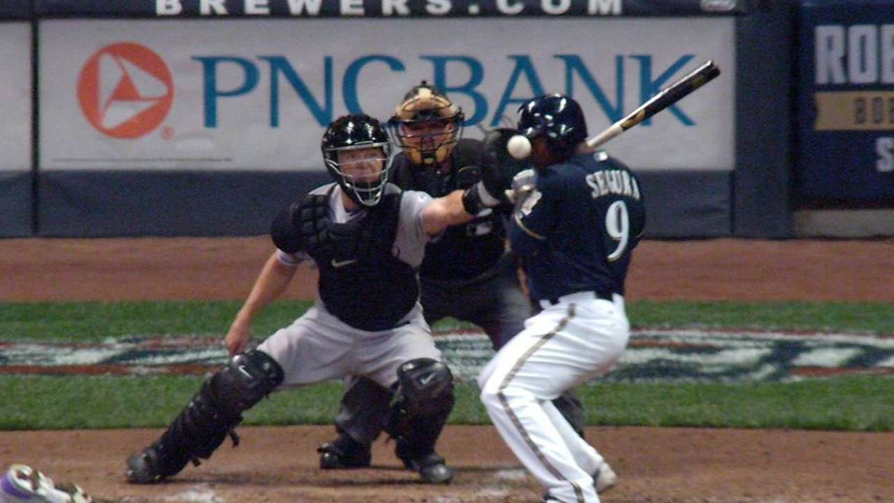 milwaukee brewers jean segura ok after being hit in face by pitch