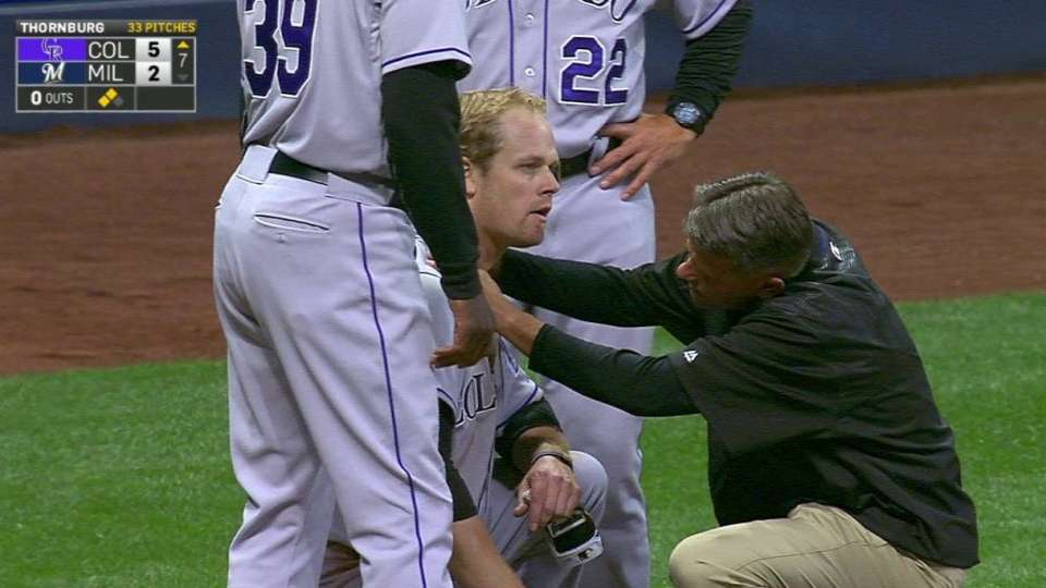 Morneau shaken up after slide