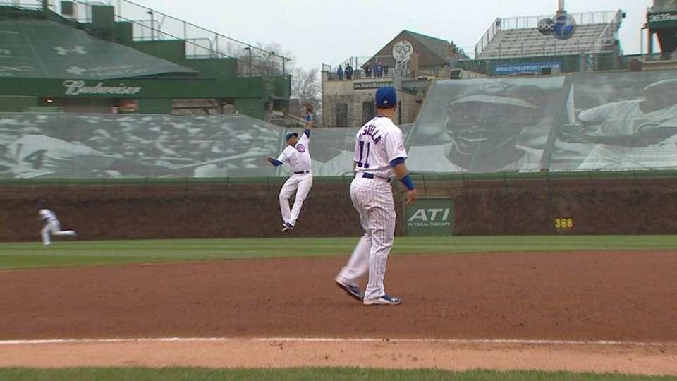 Castro's leaping catch