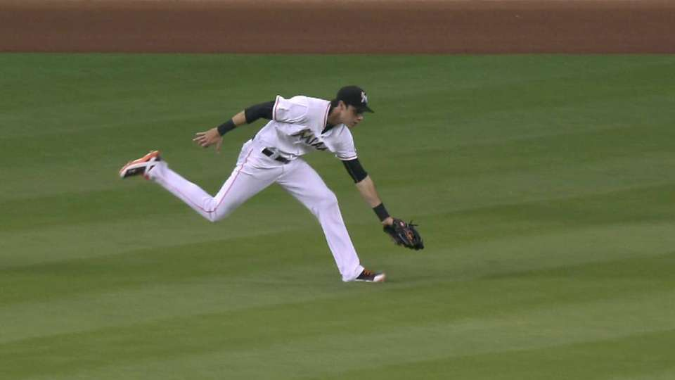 Yelich's running catch