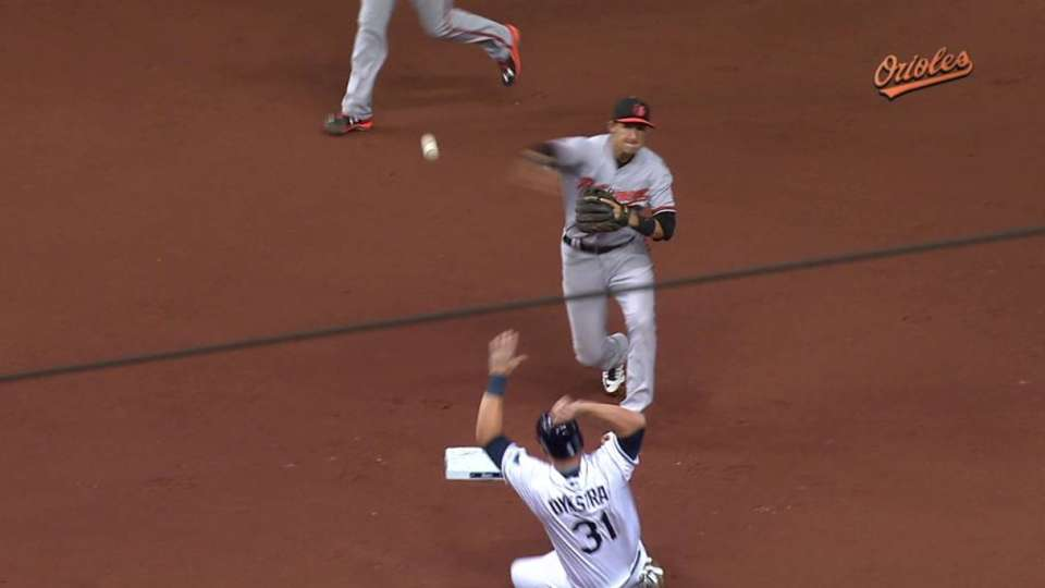Schoop starts double play