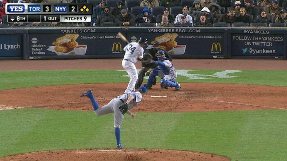 McCann's game-tying hit-by-pitch