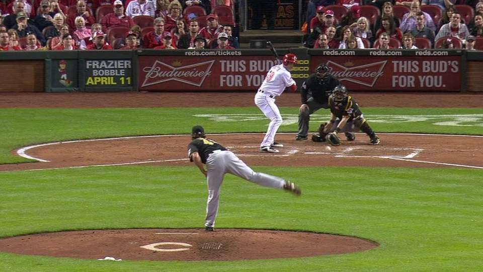 Cozart scores on wild pitch