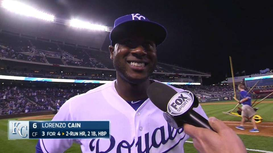 Cain on big 8th inning