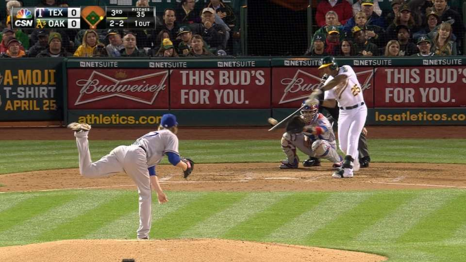A's score five in the 3rd