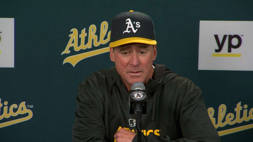 Melvin on A's 10-0 win