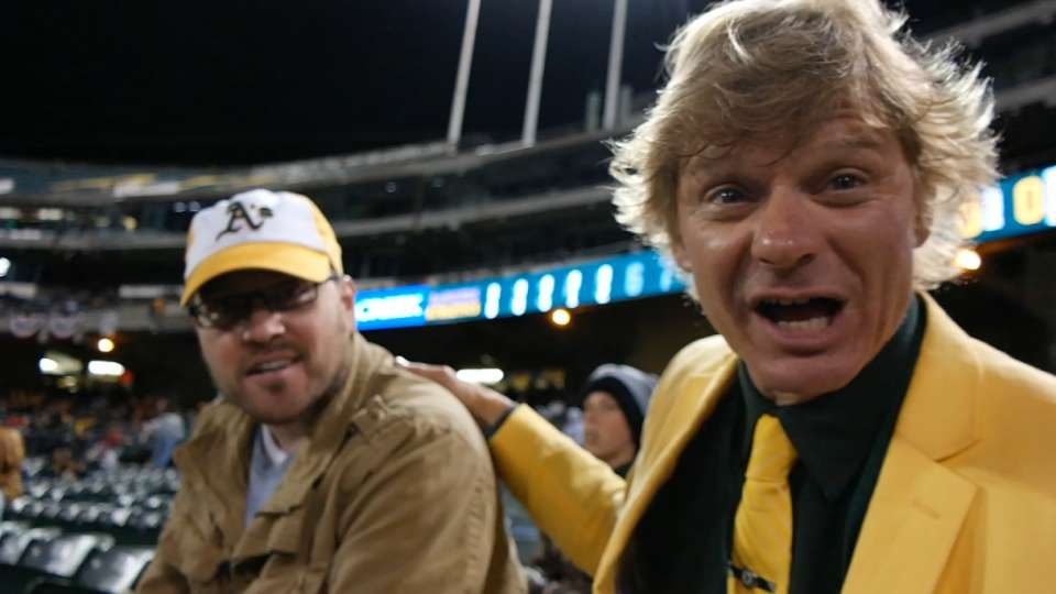Two Todd Schwenks at A's game