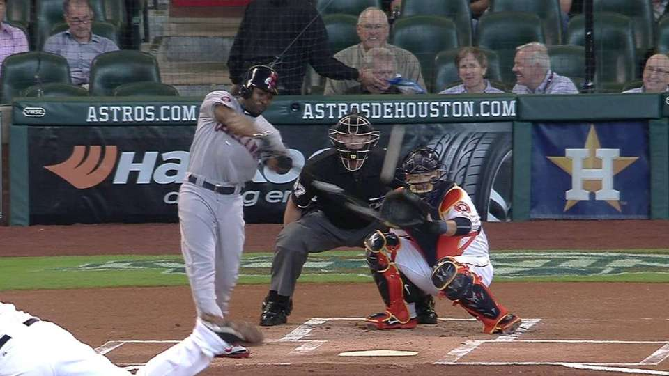 Bourn's first double of 2015