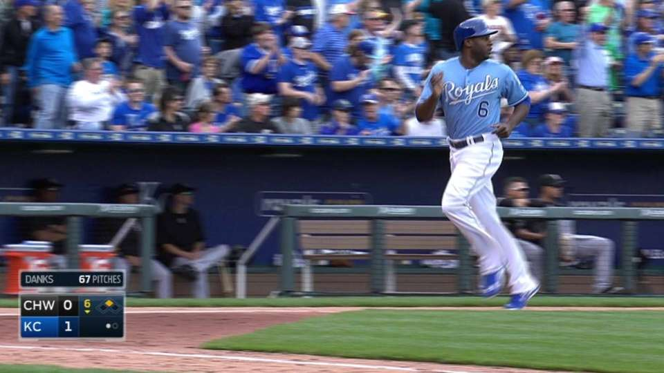 Morales' RBI double