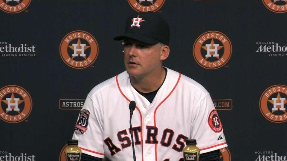 Hinch on Astros' loss
