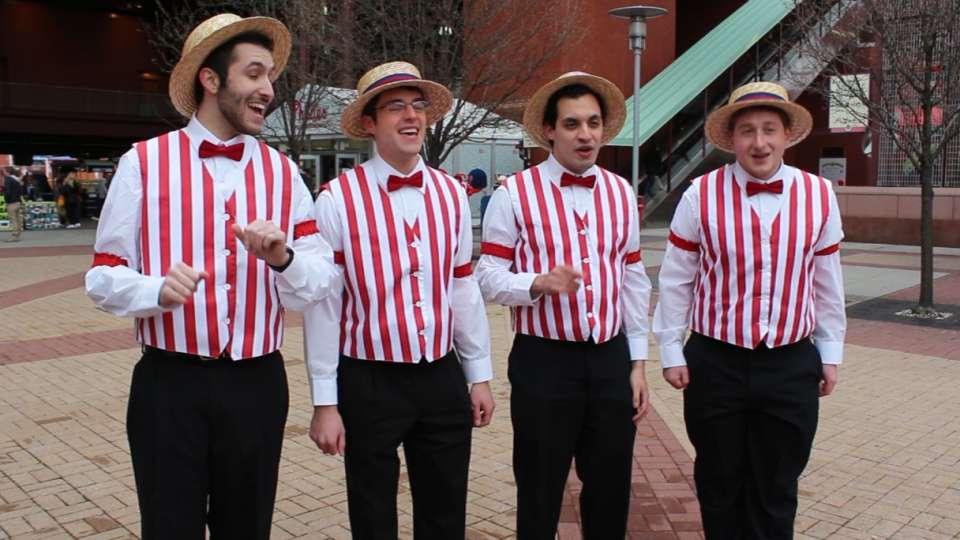 Barbershop quartet delights fans