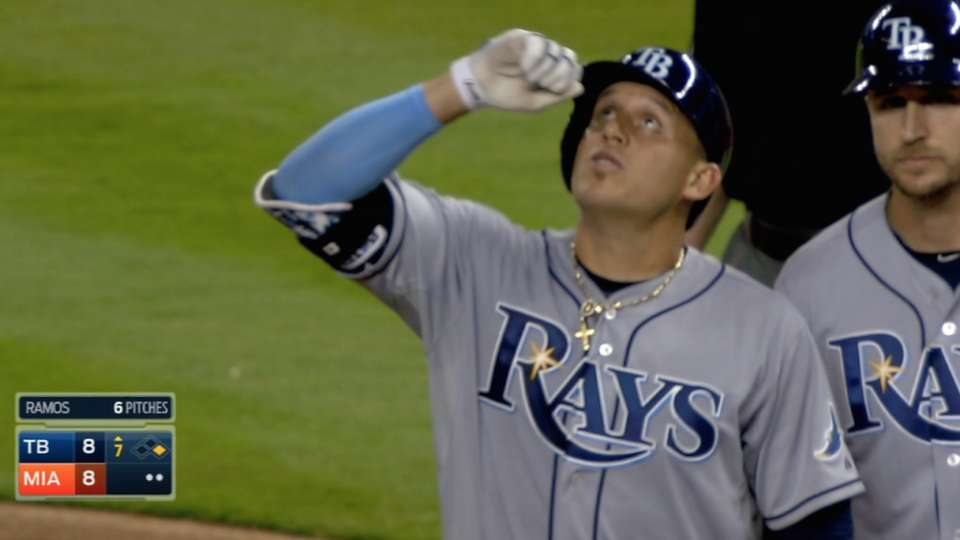 Rays score seven runs in the 7th