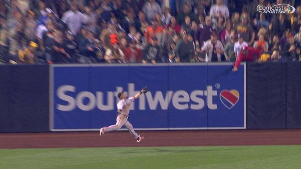 Aoki's running catch