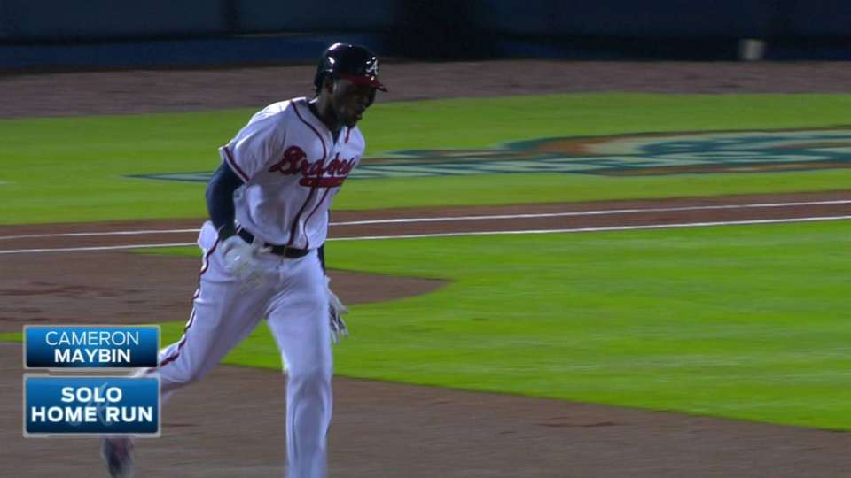 Maybin's leadoff homer