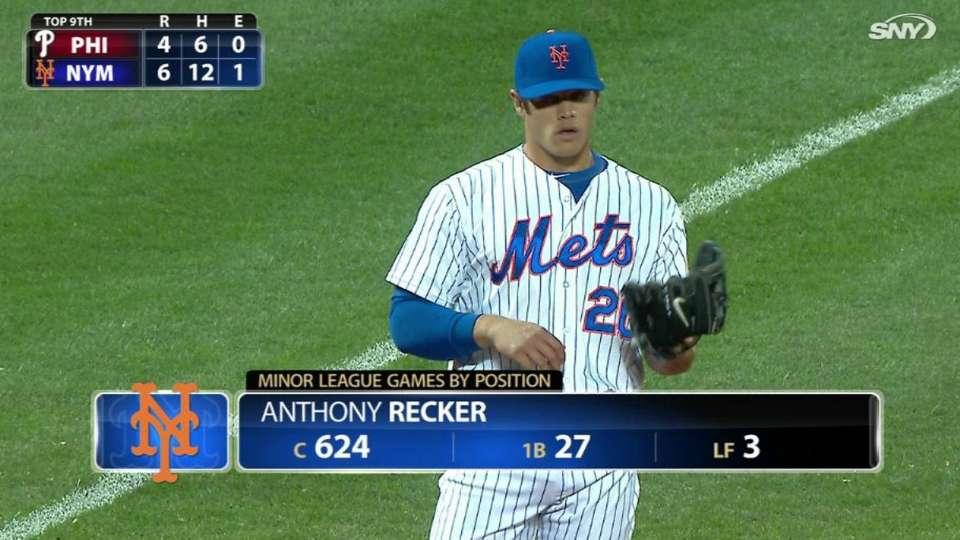 Recker plays third