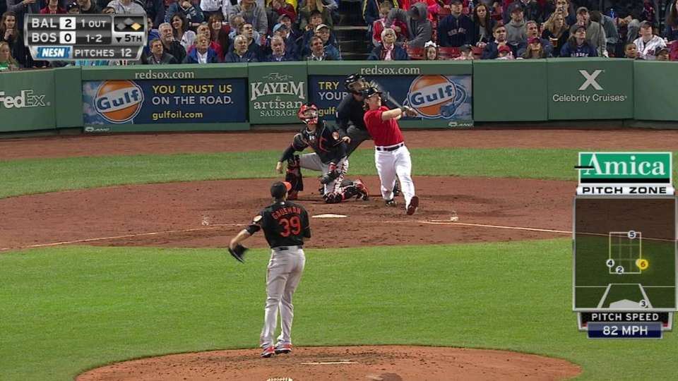 Hanigan's two-run homer