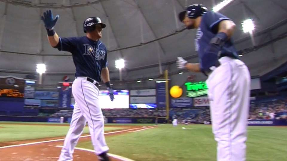 Rays hit back-to-back homers