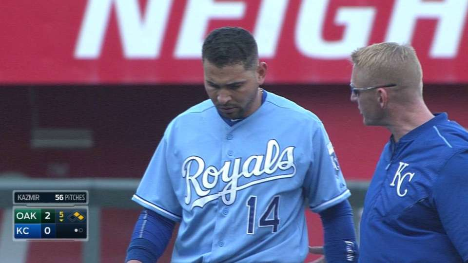 Infante leaves with injury