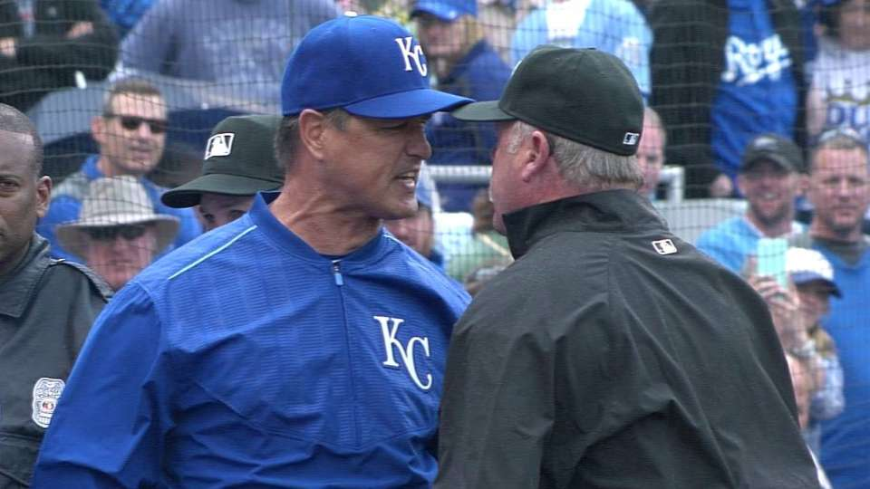 Close pitch leads to ejections