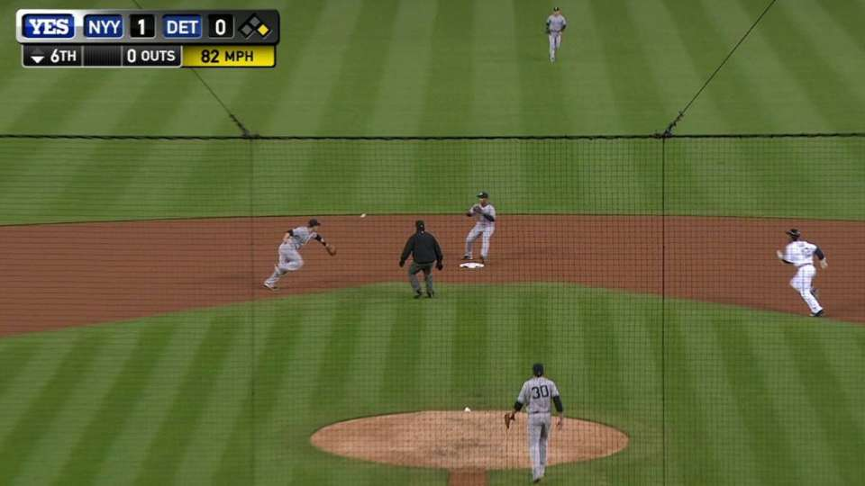 Drew's smooth glove flip for two
