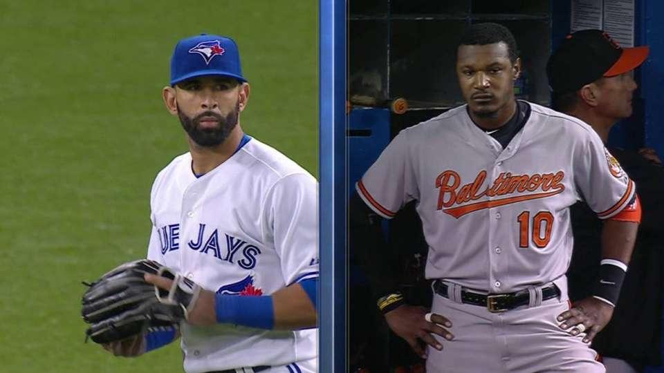 Bautista, Jones exchange words