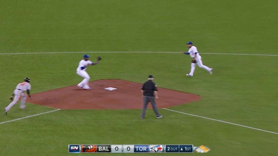 Smoak's nice diving double play