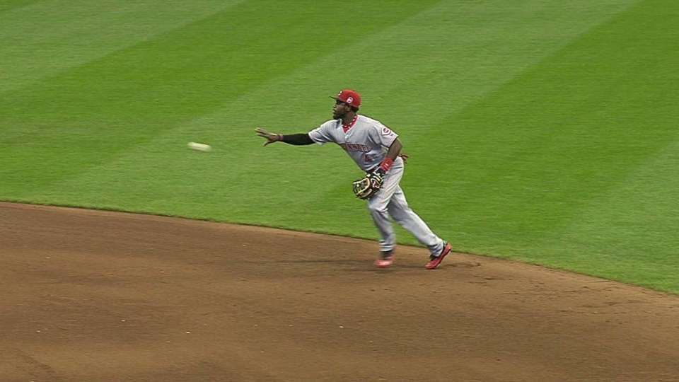 Reds' smart double play