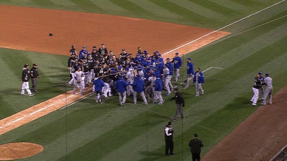 Benches clear after argument
