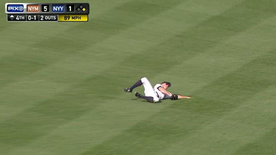Gardner's sliding catch in left