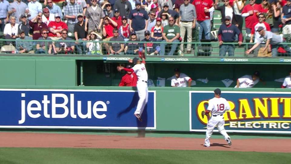 Betts' leaping catch at the wall