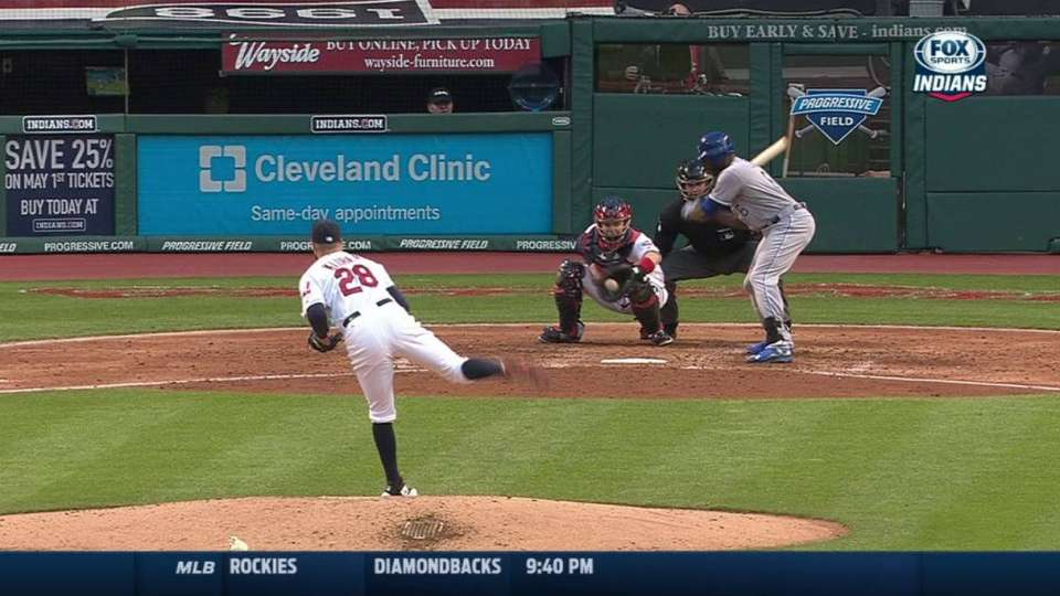 Kluber's 500th strikeout