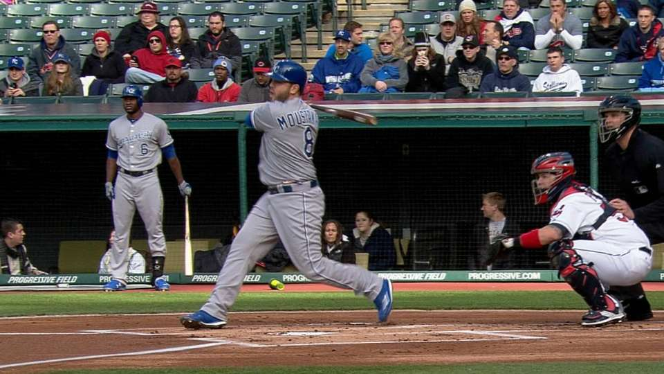 Moustakas' four-hit game
