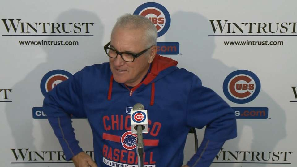 Maddon on Wood, Cubs' 6-2 win