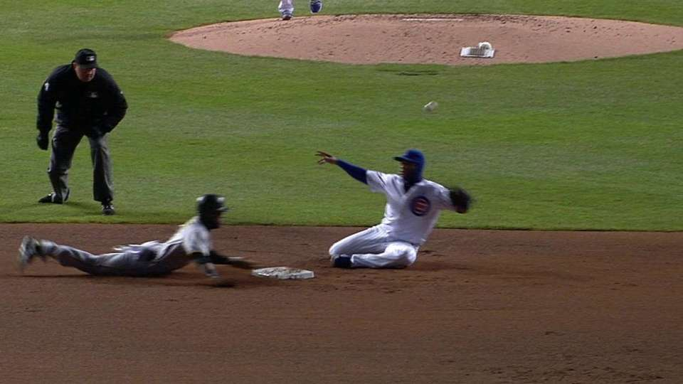 Marte takes two bases