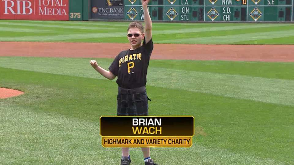 Wach First Pitch at PNC Park