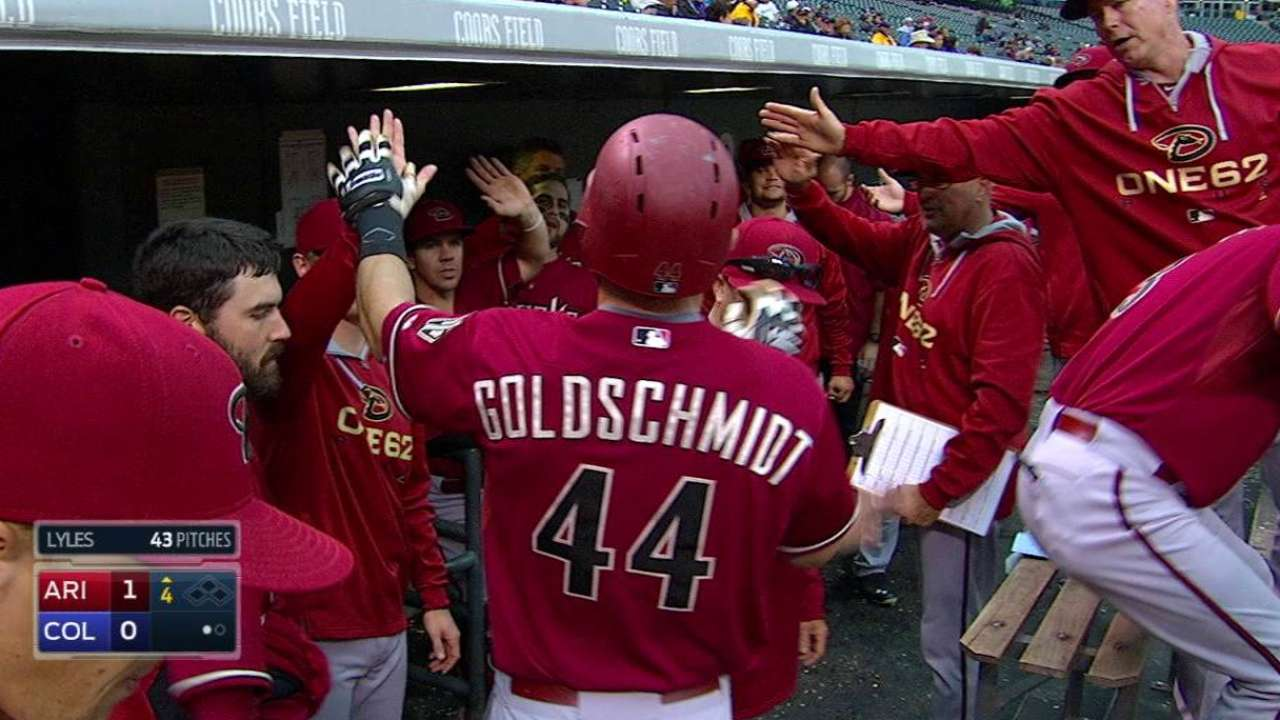 D-backs barrieron la doble jornada frente a Rockies