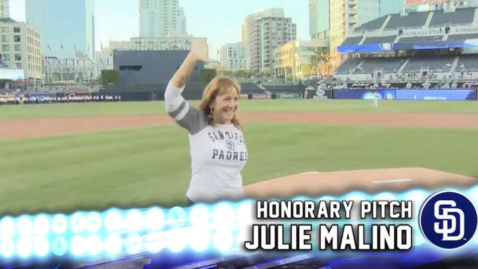 Padres First Pitch: Julie Malino