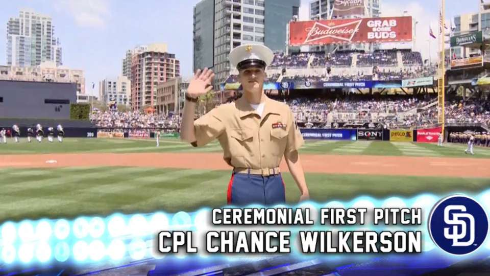 Padres First Pitch CPL Wilkerson