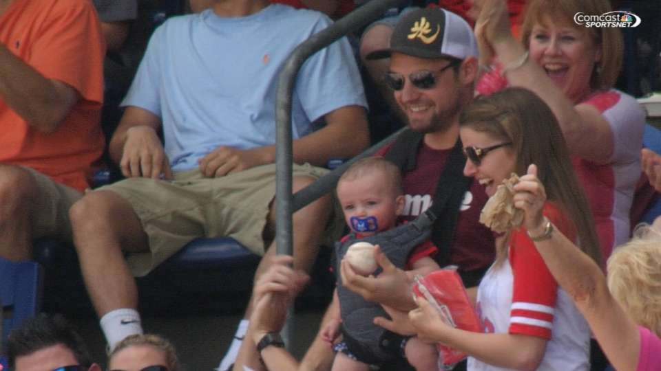 Father on catching foul ball