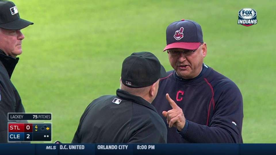 Francona tossed from the game