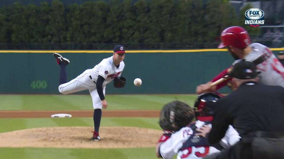 Kluber notches 16th strikeout