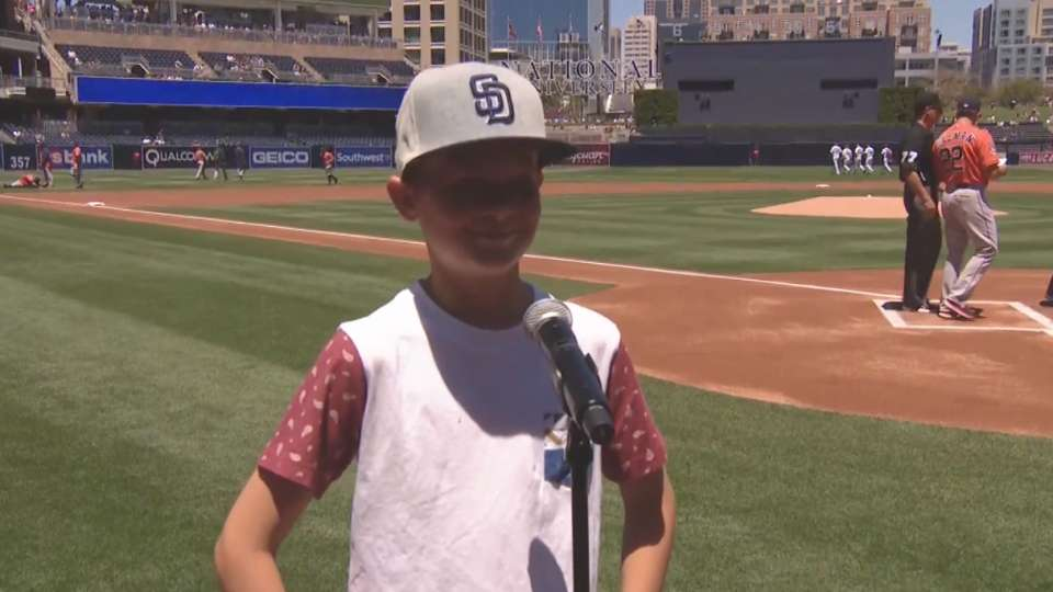 Padres Play Ball Kid