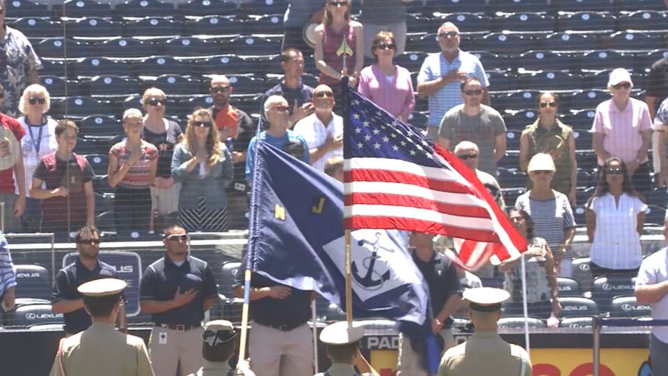 National anthem and Color Guard