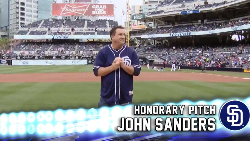 John Sanders' honorary pitch