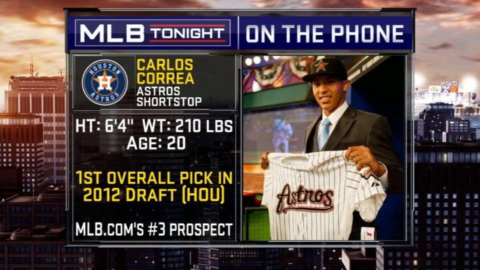 Correa calls in to MLB Tonight