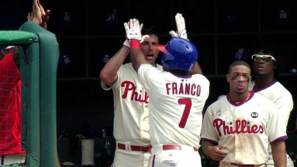 Franco's first MLB home run