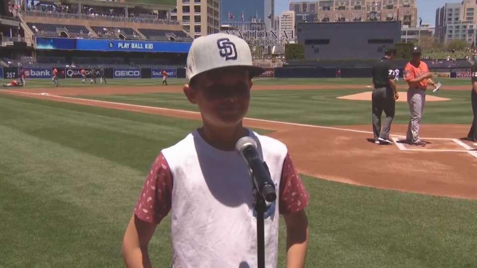 Padres Play Ball Kid