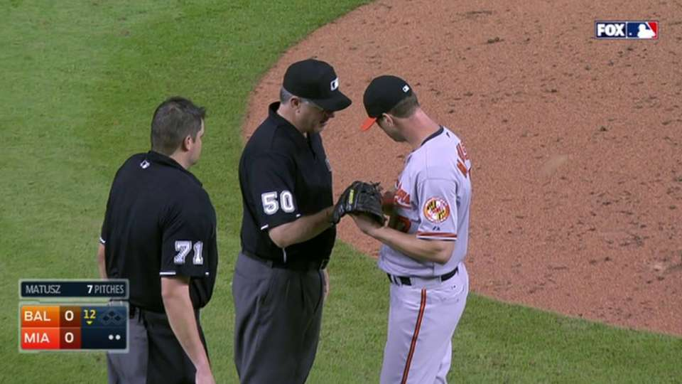 Matusz ejected for substance