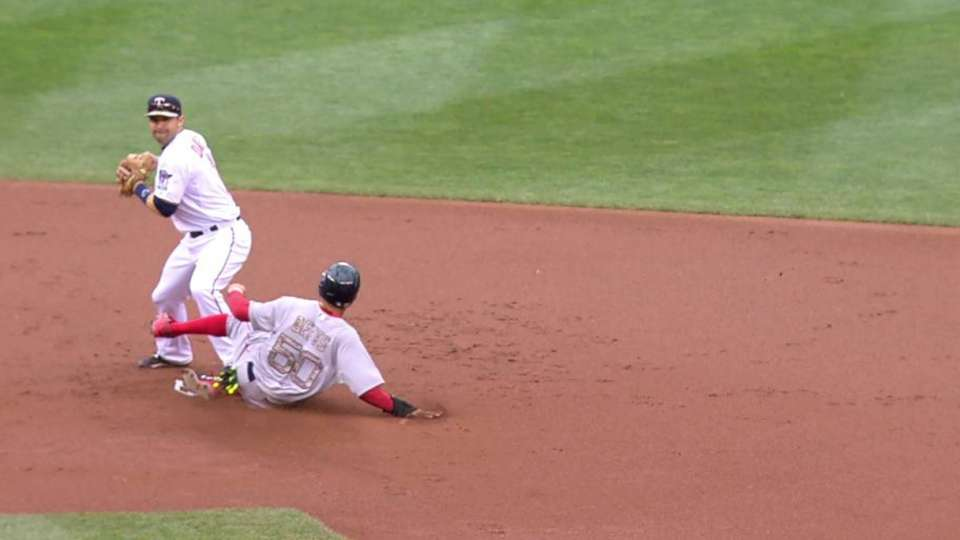 Twins turn the double play