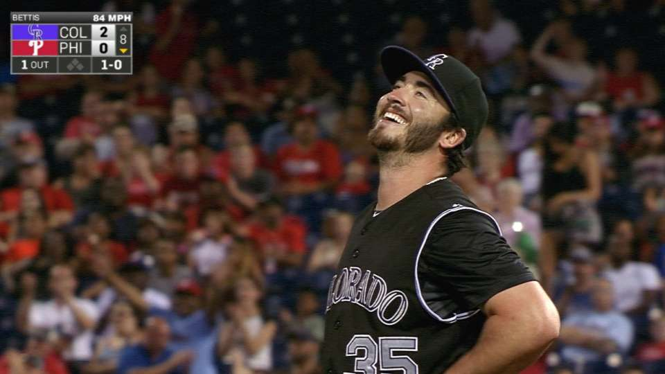 Bettis flirts with no-no